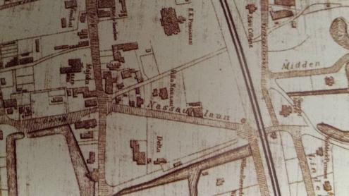 Nassaulaan in 1884 met nog heel weinig bebouwing.