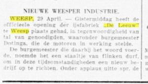 De Telegraaf 29 - 04 - 1933